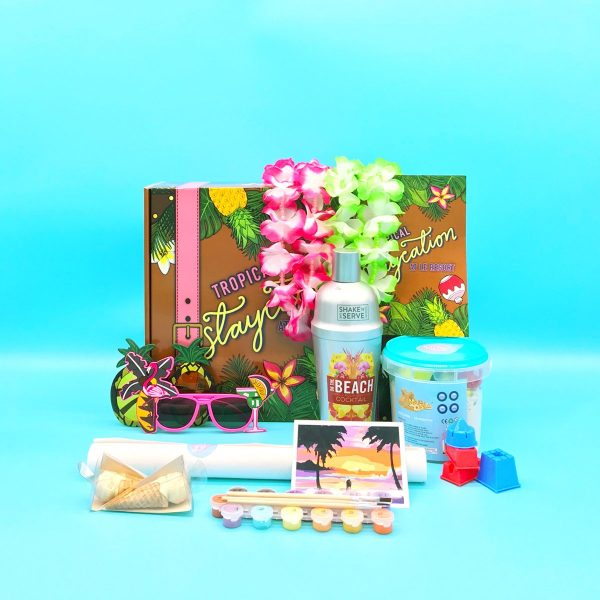 Inside the Tropical Staycation date night box