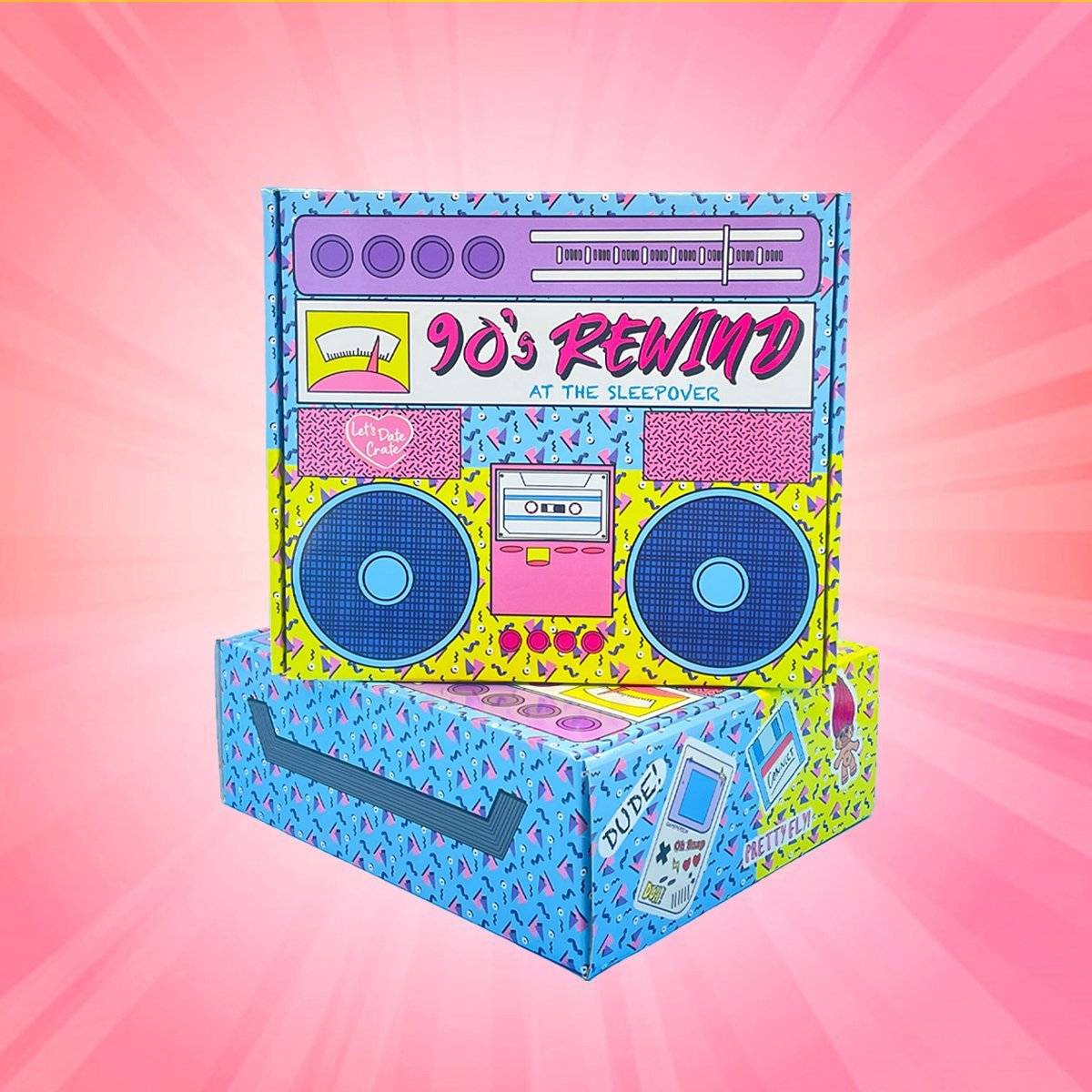 Letsdate crate date night at home box – 90s rewind